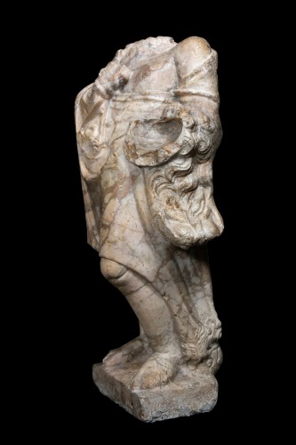 Herakles in Giallo Antico marble, Roman - Ancient Art Style