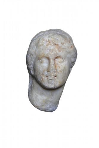 Marble Head of a Woman, Roman