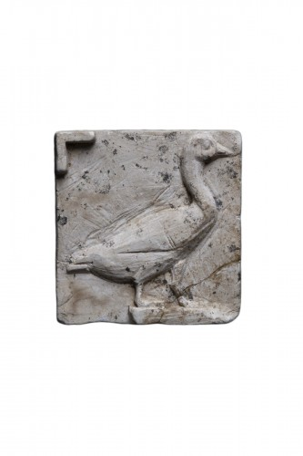 Limestone Cast with a Goose, Egyptian