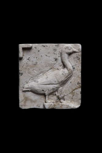 Ancient Art  - Limestone Cast with a Goose, Egyptian