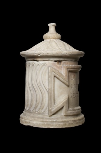 Marble Cinerary Urn, Roman - Ancient Art Style