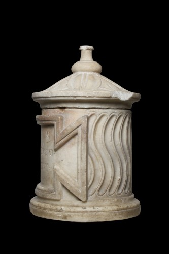 Ancient Art  - Marble Cinerary Urn, Roman