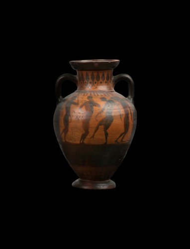 Terracotta Amphora with Boxers, Greek, Attic - Ancient Art Style