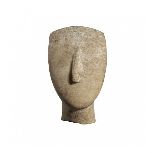 Head of a Cycladic Idol