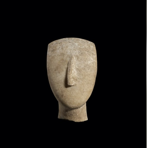 Head of a Cycladic Idol -