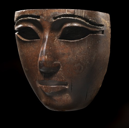 Egyptian mask of a human face - Ancient Art Style
