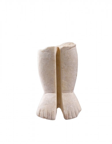 Cycladic marble pair of legs attributed to the Goulandris Sculptor