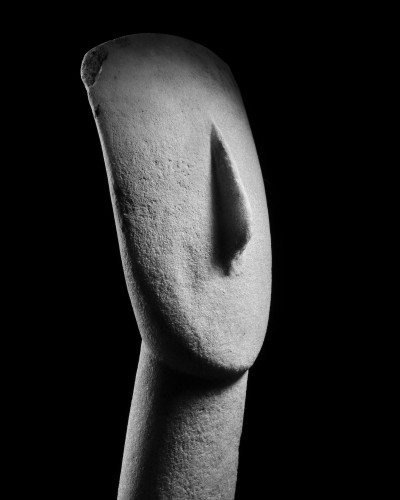 BC to 10th century - Head of a Cycladic idol