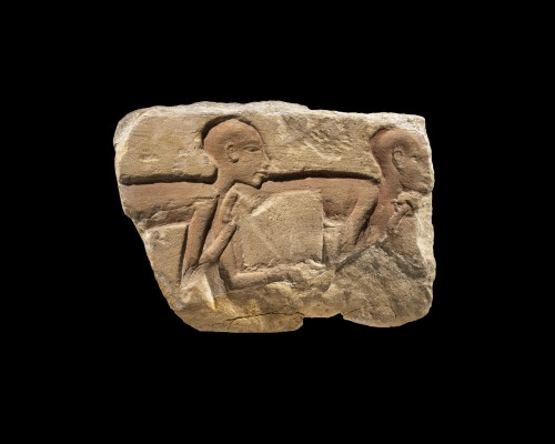 Fragment of an Amarnian relief - Ancient Art Style