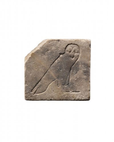Egyptian bas-relief of a barn owl