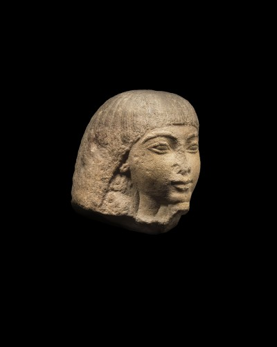Egyptian head of a dignitary - Ancient Art Style