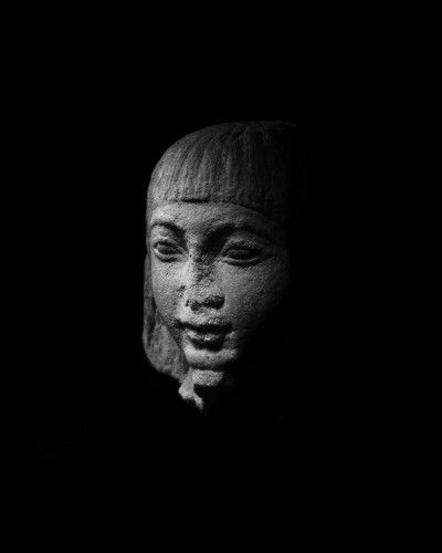 Ancient Art  - Egyptian head of a dignitary