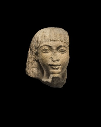 Egyptian head of a dignitary -