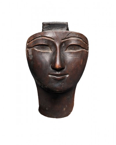 Egyptian mask of a human face