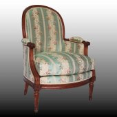 Large Louis XVI Bergere armchair Stamped DUPAIN