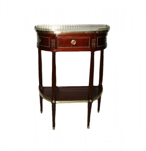A Louis XVI mahogany console table