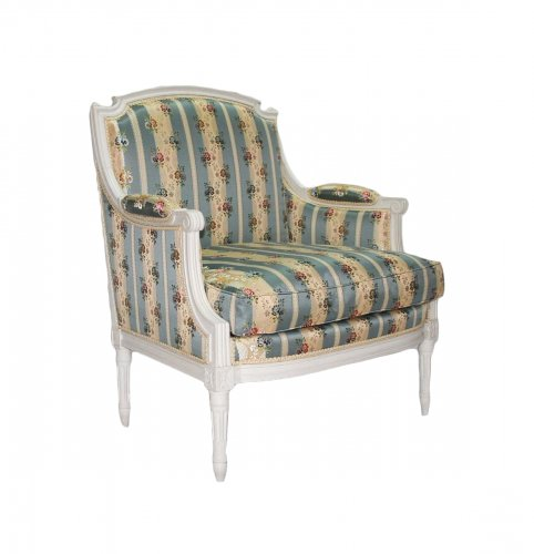 Wide Louis XVI Bergere armchair