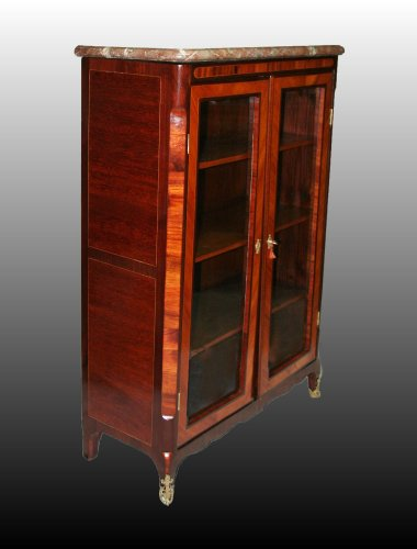 French 18th century Glazed Bookcases stamped P.A.VEAUX - Furniture Style Transition