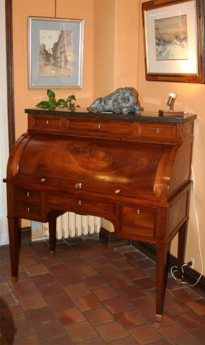 Mhogany Bureau a cylindre stamped GAMICHON - Directoire