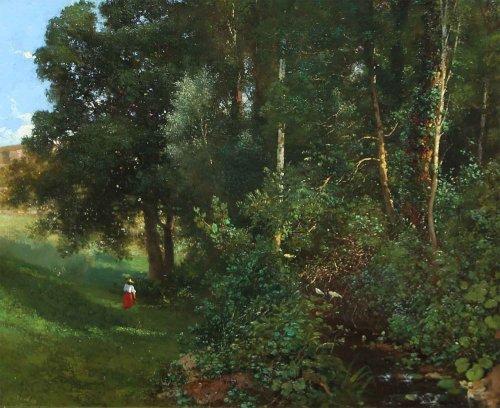 Maurice Buchin (1818-1893)  - River
