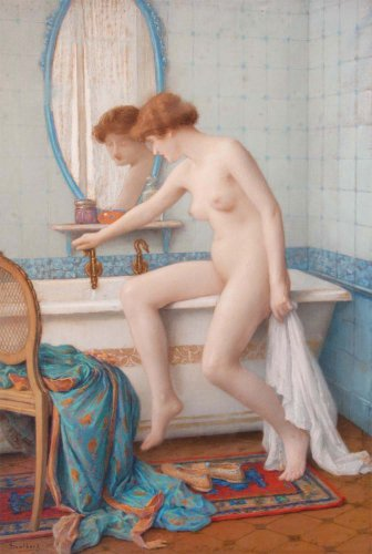 Scalbert Jules (1851-1928) - Young nude woman