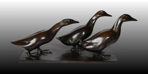 Sculpture  - Ducks Group  - Armand Petersen (1891-1969)