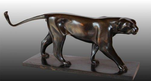 Sculpture  - Armand Petersen (1891-1969) ) - Panther