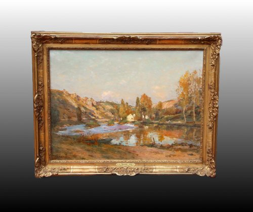 Mil in Chauvigny - Jean Massé (1856-1950) - Paintings & Drawings Style