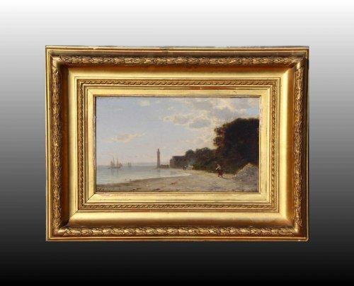 Paintings & Drawings  - Amédée Rosier (1831-1898) - Honfleur