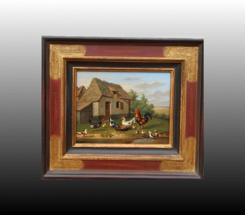 Backyard - Mme GYSELINCKX 1870 - Paintings & Drawings Style