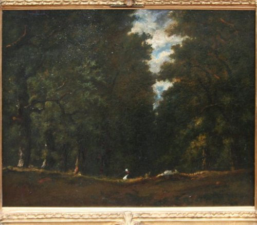 Paintings & Drawings  - Mound at the edge of the forest - Narcisse Virgile DIAZ DE LA PEÑA (1807-1876)
