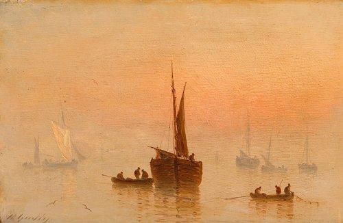 Paintings & Drawings  - Henriette Herminie GUDIN (1825-1876) - Pair of marine painting