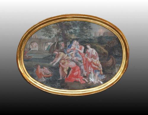 Moses Saved from the Waters -  French School, late 17th early 18th century -