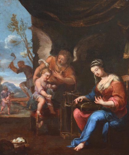 French School 17th century - Holy Family