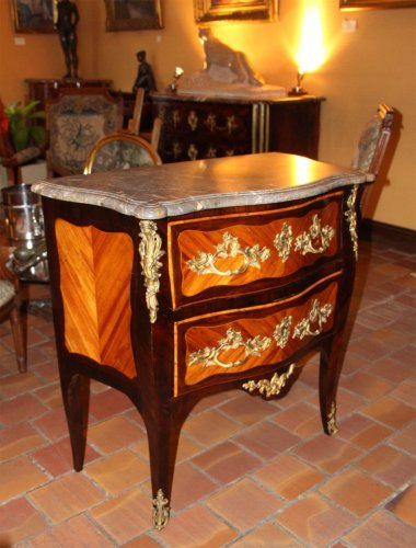 "Furniture  - Louis XV  ""sauteuse"" chest of drawer"