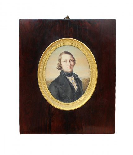 Miniature portrait - Eliza Le Guay (active Between 1840 And 1859)