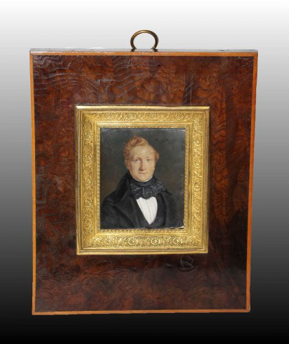 Miniature, Beaunis Father (active Between 1819 and 1860) - Paintings & Drawings Style Restauration - Charles X