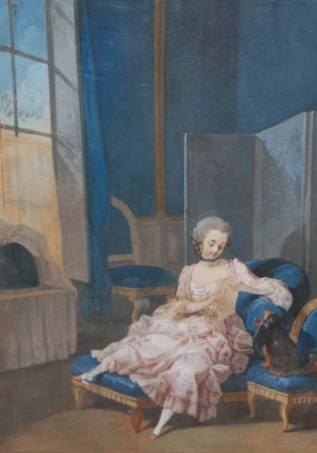 Pair of gouaches on paper - Attributed to Jacques CHARLIER (c.1720-1790)  - Paintings & Drawings Style Louis XVI