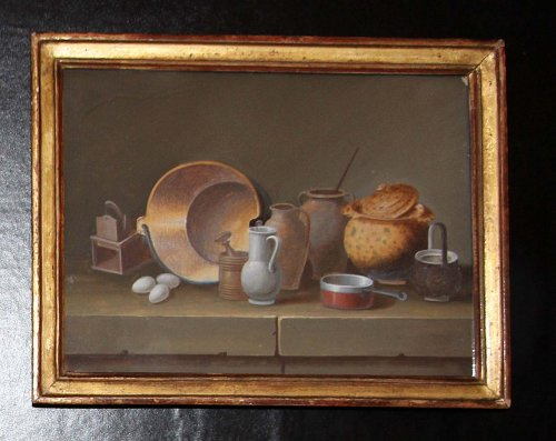 Johann Rudolf FEYERABEND (1779-1814) dit LELONG - Paintings & Drawings Style Louis XVI