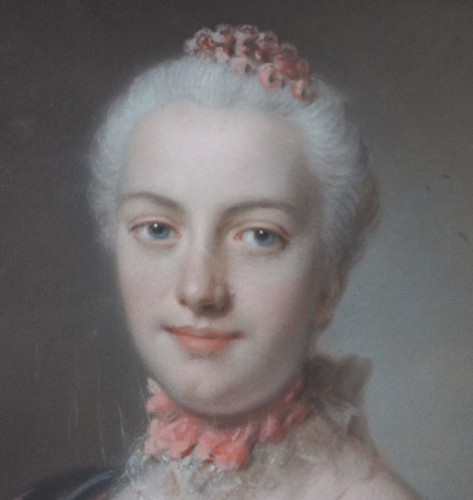 Paintings & Drawings  - Portrait of woman - Pierre ALLAIS (1700-1781)