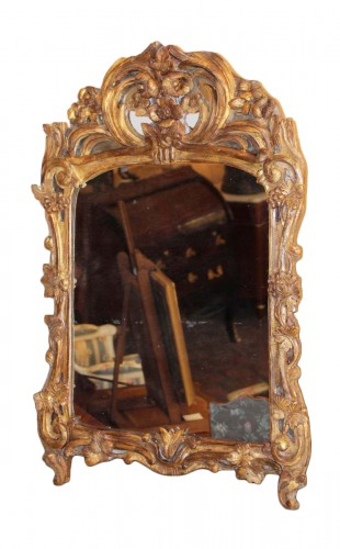 A Louis XV giltwood mirror