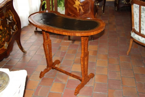 "French Louis XVI Table ""Rognon"" Stamped JG SCHLICHTIG -"
