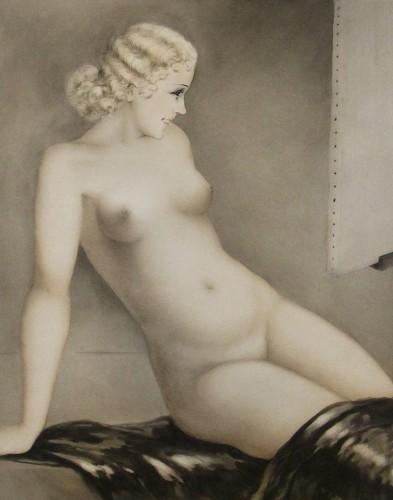 Louis ICART (1888 - 1950) - The Model 1933