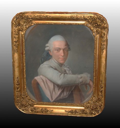 Pierre-Martin BARAT (1736 -1787) - Gentleman's portrait - Paintings & Drawings Style Louis XVI
