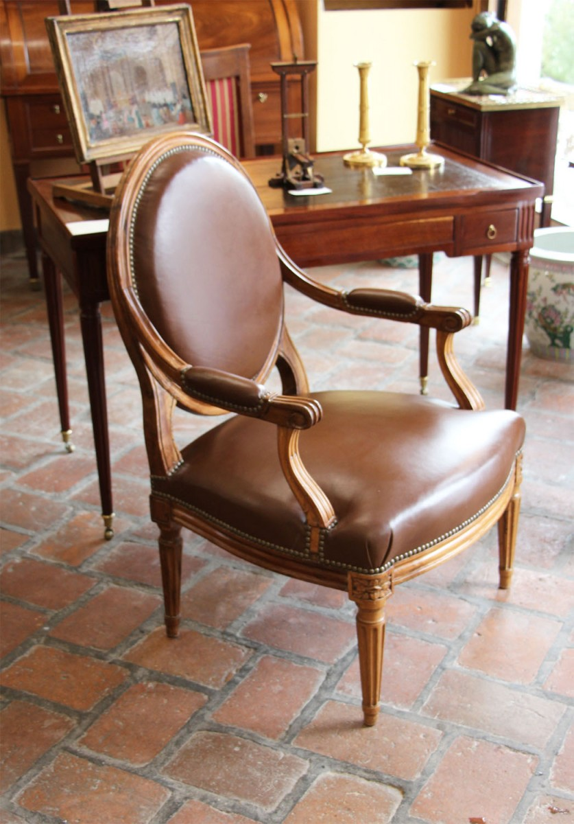 Pair Of Antique Armchairs 18TH   Seating Style Louis XVI
