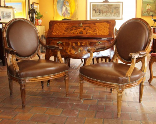 Seating  - pair of antique armchairs 18TH