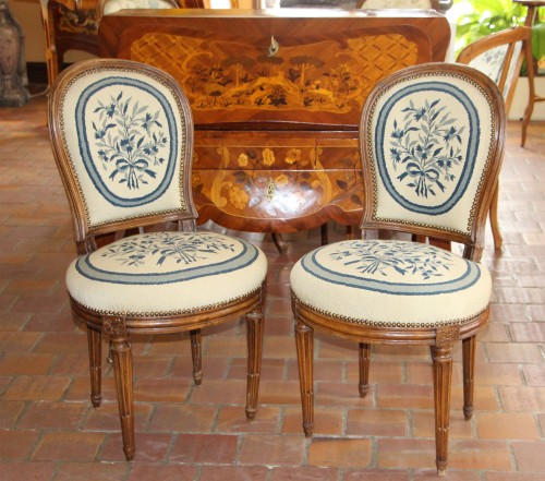 Pair Of Louis XVI Period Chairs - Seating Style Louis XVI