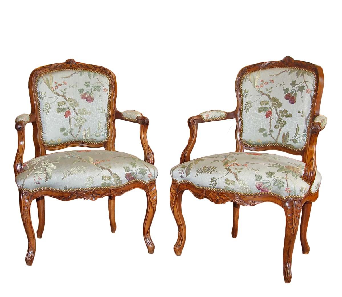 paire de fauteuils cabriolet dpoque louis xv - Cabriolet Fauteuil