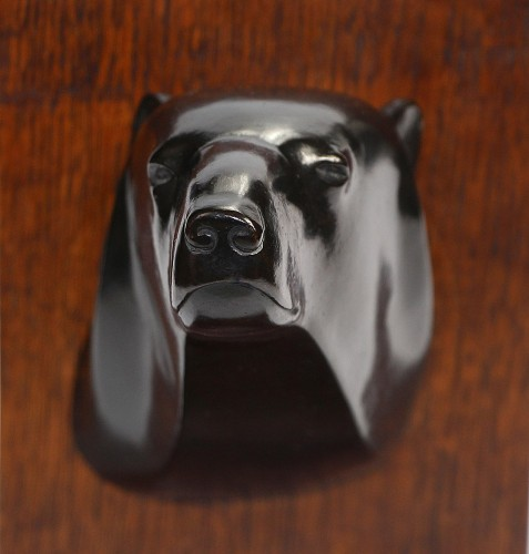 Armand Petersen (1891-1969) - Bear's head - Sculpture Style Art Déco