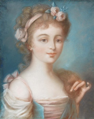 Pastel portrait - French School of the late 18th century